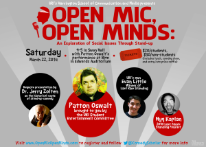 Open Mic, Open Minds Poster